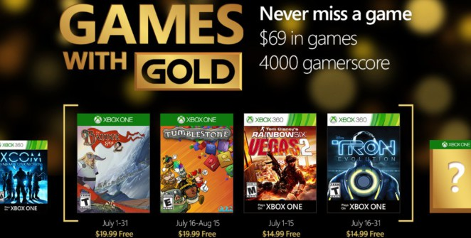 Liste Games with Gold Juillet 2016