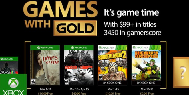 Games With Gold de Mars 2017