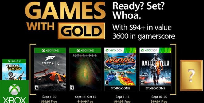 Games With Gold Septembre 2017Games With Gold Septembre 2017